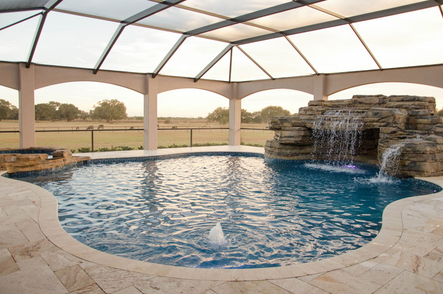 Picture gallery bobco pools for Luxury pools with waterfalls