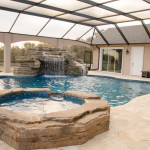 Pool with Spa and Waterfalls, Bobco Pools in Lakeland